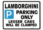 lamborghini Parking Sign -gift for  Countach DIADLO gallardo car models Size Large 205 x 270mm